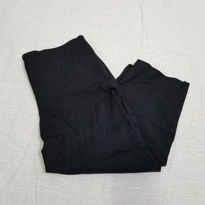 Talbots Heritage Black Side Zip Capris SZ 8
